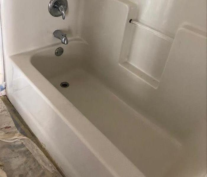 Tub Cleaning after the Fire After